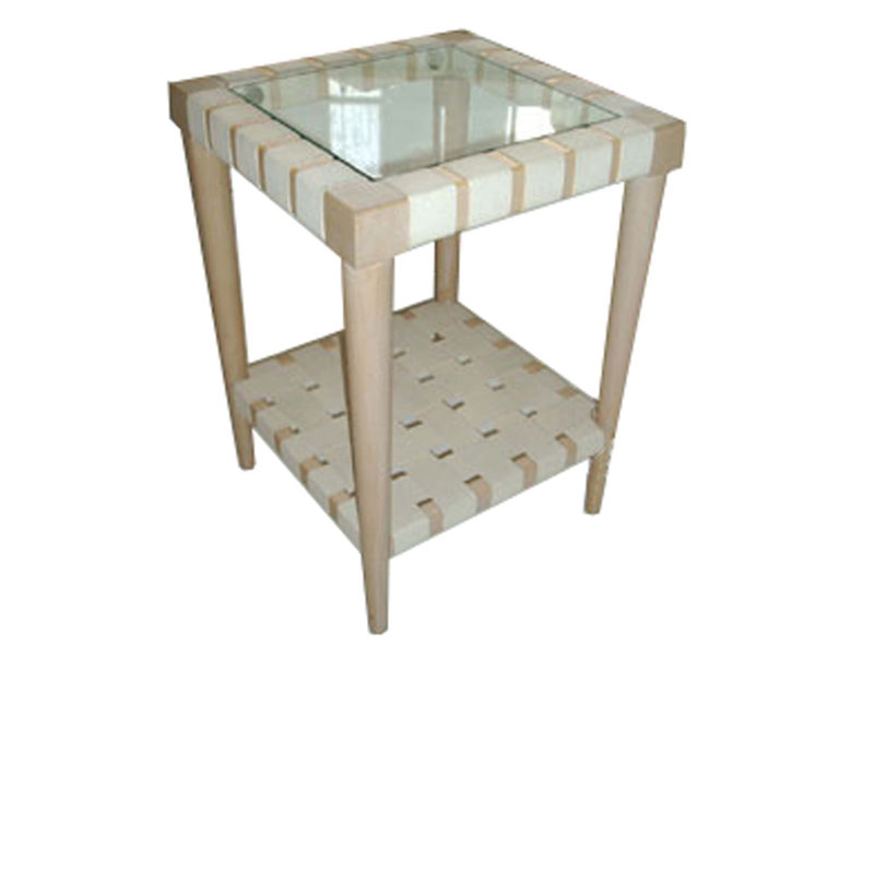 The VW Webbed Side Table, Glass Top