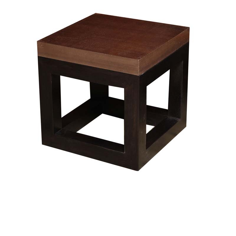 The Cube Side Table with Cement Top