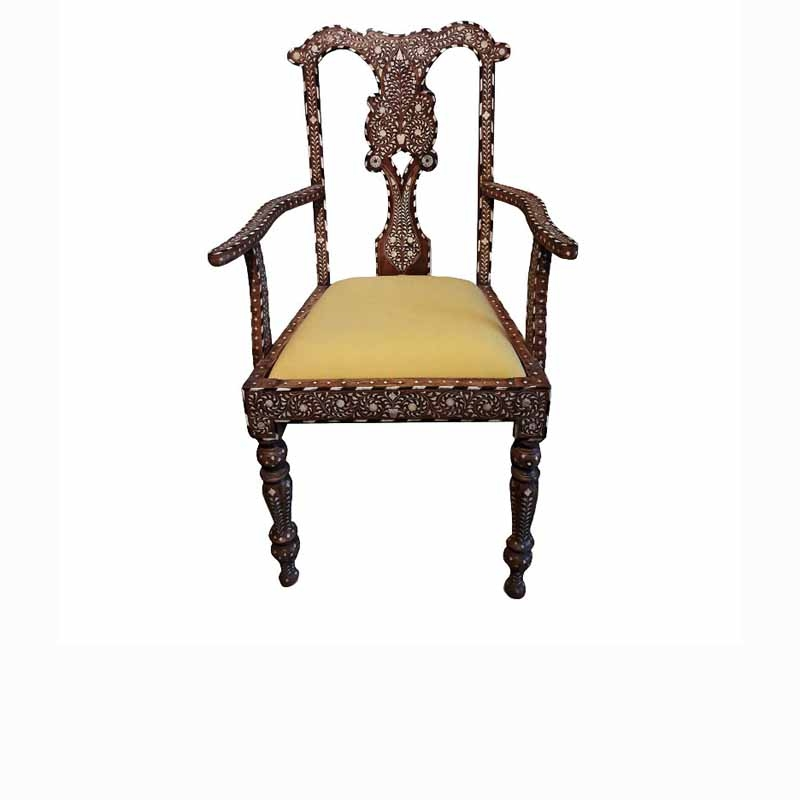 Bone-Inlaid Armchair