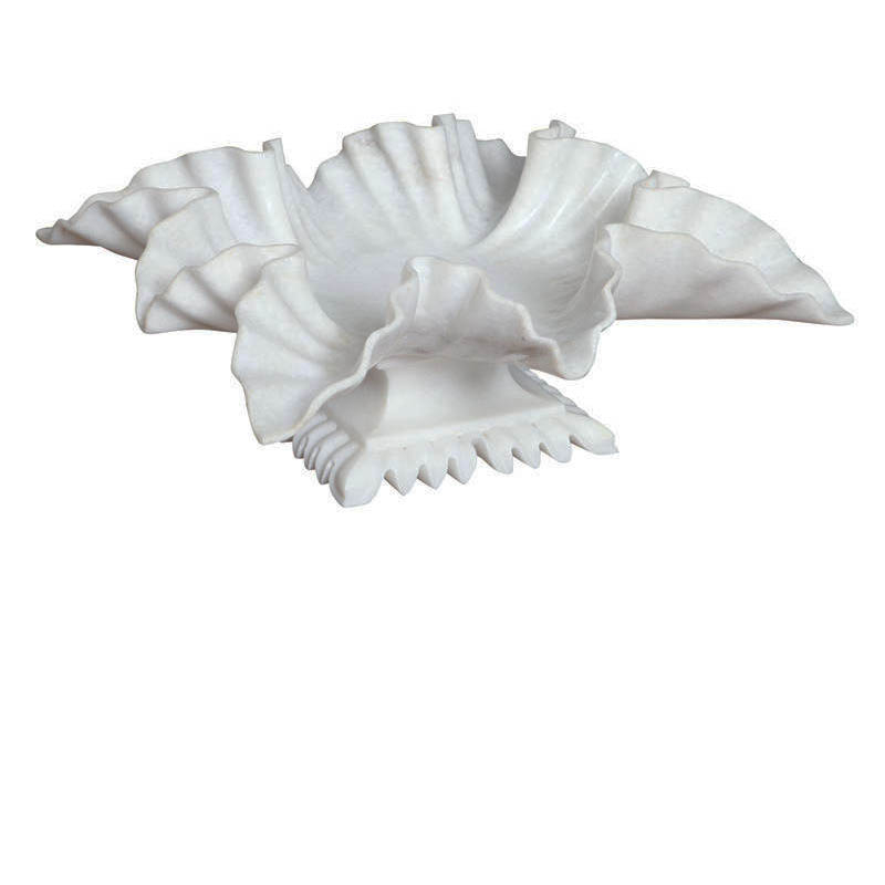 White Marble Leaf Bowl