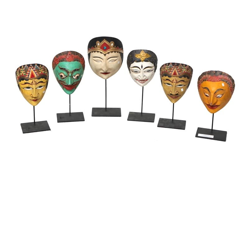 Topeng Dance Ceremonial Masks, on Stand