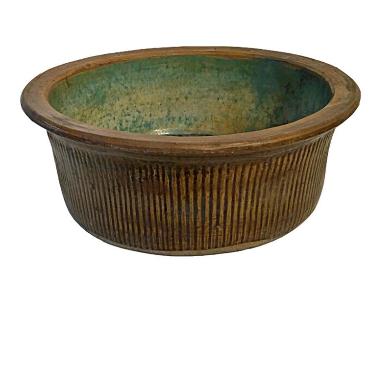 Green-Glazed Ceramic Bowl