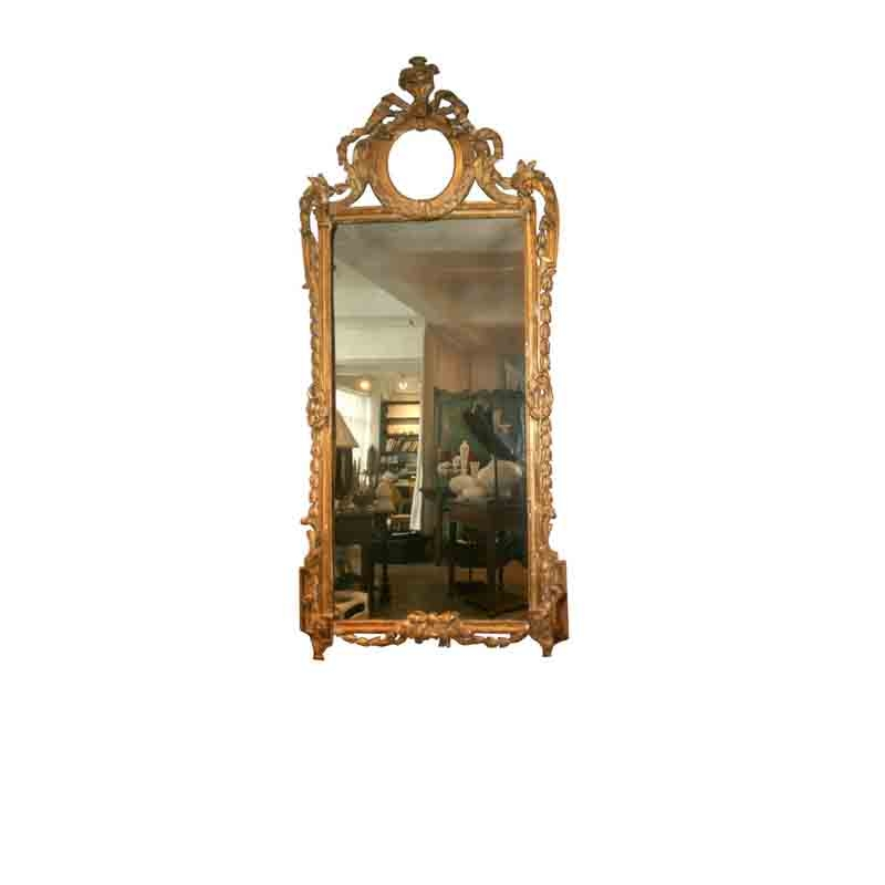French Gilt Mirror, 18th Century