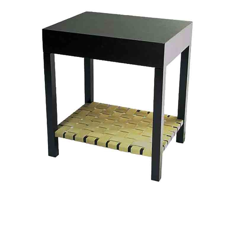 The VW Webbed Side Table, Wood Top